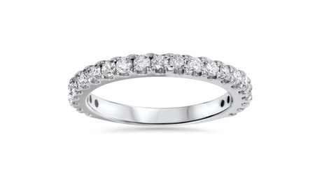 1 CT Diamond 3/4 Eternity Stackable Wedding Ring 14K White Gold 0d3146b9-32a0-4274-9689-d33550918fb4