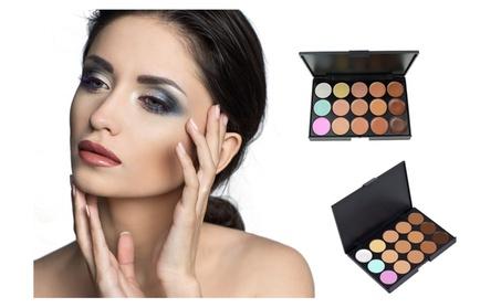 15 Colors Women Makeup Contour Palette Face Cream Concealer
