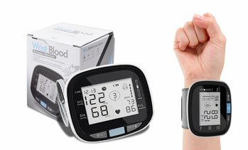 LCD Digital Automatic Wrist Cuff Blood Pressure Monitor with Large Display