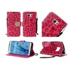 Insten Leopard Leather Fabric Case Stand For Samsung Galaxy S7 Red/blk