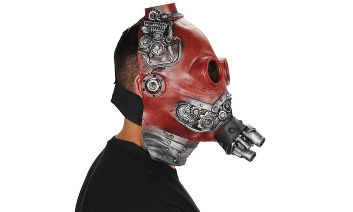Red Steam Punk Adult Mask