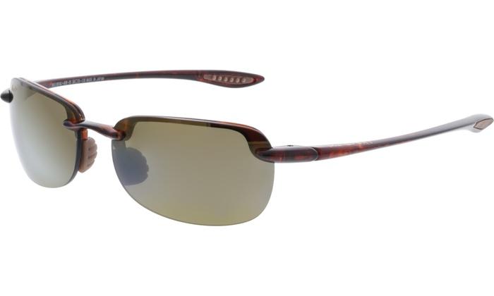 21caf4017b66 Maui Jim Men's Polarized Sandy Beach H408-10 Brown Semi-Rimless Sunglasses