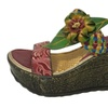 Women's Handmade Weave Flower Wedge Clogs