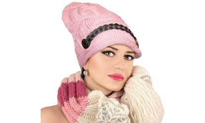 d24f339b35b Shop Groupon New Women s Comfortable Slouchy Cable Knit Beanie Slouch  Beanie Hats