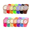 Geneva Women's Crystal-Embellished Silicone Watch