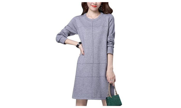 Women's Casual Fashion Long Sleeve Loose Fit Solid Pullovers