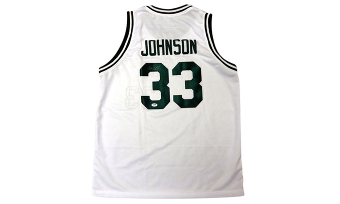 0d6a15d70 Up To 65% Off on Magic Johnson Autographed Whi...