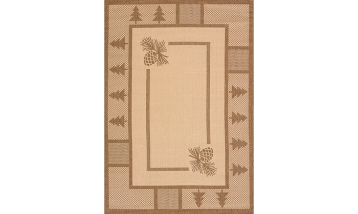 Solarium Pine Court Brown Indoor Outdoor Area Rug Groupon