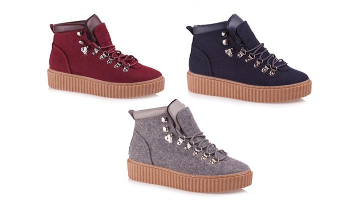 Baldi Women's Salia Casual Grey/ Navy/ Burgundy Sneakers