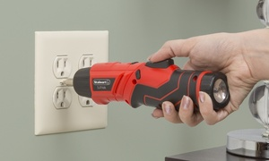 Pivoting Screwdriver 45 Pc. Set- Cordless Power Tool with Rechargeable Battery