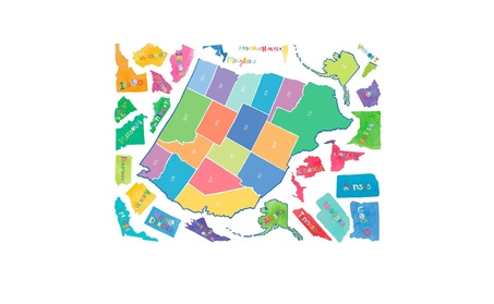 Wallies Wallcoverings 13531 Peel & Stick Wall Play US State Map 13df7865-ddd9-405e-8aa4-82f544067a80