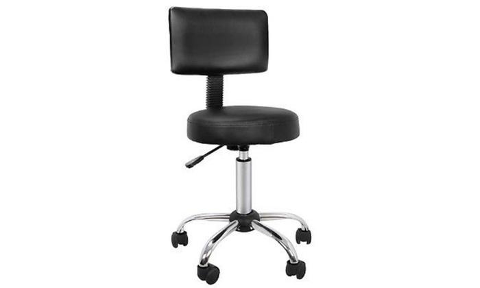 Brilliant Rolling Adjustable Hydraulic Bar Stool Chair With Back Machost Co Dining Chair Design Ideas Machostcouk