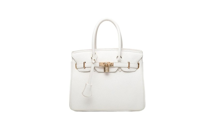 4PING Women's Padlock Handbags with Silver Hardware