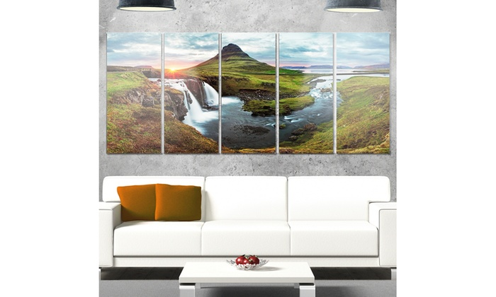 Iceland Landscape Spring - Multipanel Panorama 5 Panel Metal Wall ...