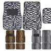 KM WORLD Carpet Car Floor Mats Safari Animal Print Universal Fit