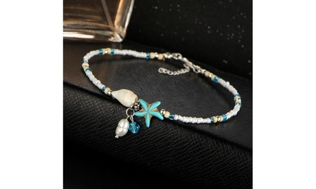 Freshwater Pearl Seabreeze Beaded Anklet by Diane Lo'ren e082a400-1c22-4fb6-8836-a03e381d31f4