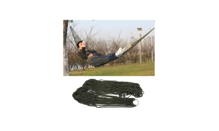 Portable  Travel Camping& Garden Hammock Net Mesh Naylon Rope Bed