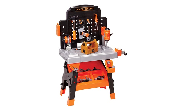 75 Tools Accessories Jr Power Workbench Realistic Action Lights Sounds Workshop