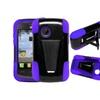 Insten Hard Dual Layer Plastic Silicone Case For Lg 306g Black/purple