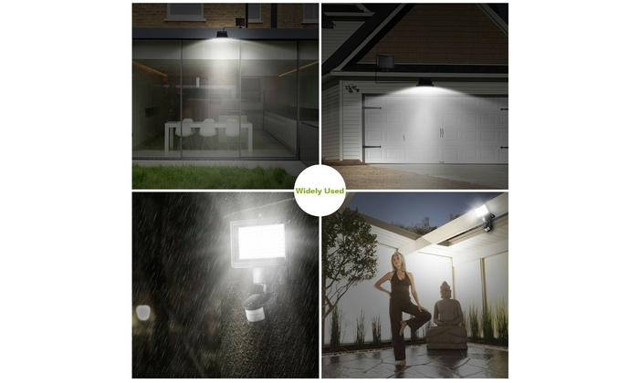 100 LED Solar Power PIR Sensor Motion Outdoor Garden Light Security Flood Lamp