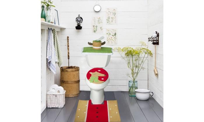 ... Christmas Bathroom Set - Sleeping Reindeer - Christmas Bathroom Decor Set ...