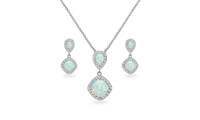 Turquoise and Dangling Pearl Necklace 925 Sterling Silver New 4ct
