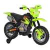 Kids 6V Electric Ride On Motorcycle Dirt Bike W/ Training Wheels