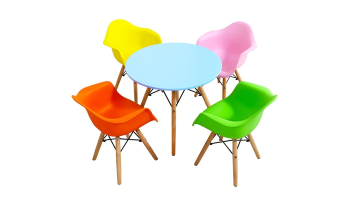 Wondrous Up To 77 Off On 5 Piece Kids Mid Century Mode Groupon Gmtry Best Dining Table And Chair Ideas Images Gmtryco