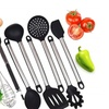 Silicone Kitchen Utensils Set, 8 Pieces Stainless Steel Cooking Tools