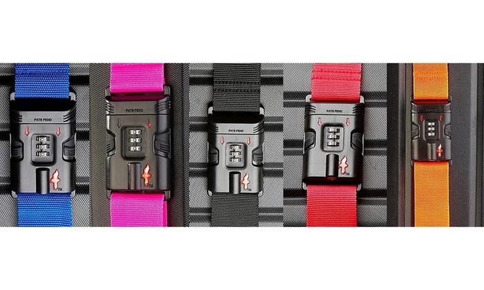 2aa0e139a2b3 Safe Skies TSA-Recognized Combination Locking Luggage Strap   Groupon