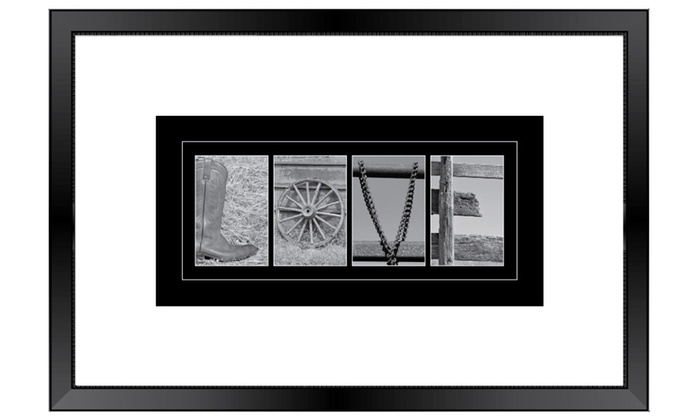spell it out photos wedding guest book signature frame 3 inch