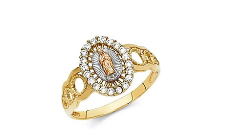 Virgin Mary Crystal Halo RIng Made With Crystals From Swarovski