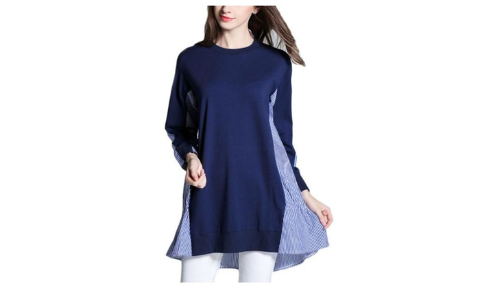 Women's Stylish Casual Graphic Long Sleeve Pullover Blouse