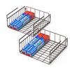 2 Pack - Under Cabinet Storage Shelf Wire Basket Organizer