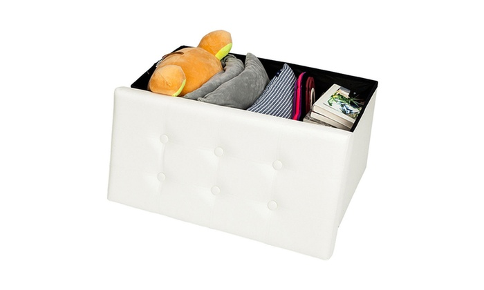 Groovy Up To 79 Off On Leather Storage Ottoman Bench Groupon Alphanode Cool Chair Designs And Ideas Alphanodeonline