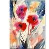 Sheila Golden Three Bright Flowers Canvas Print