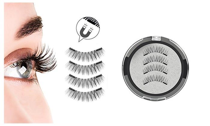 71abe174b73 Magnetic False Eyelashes—1 Set (2 Pairs)-Reusable Ultra-Thin 3D Fiber