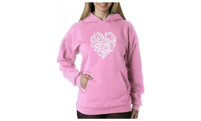 Women's Hooded Sweatshirt -LOVE