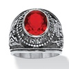Ruby Army Ring in Stainless Steel