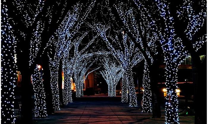 Led christmas solar string lights groupon
