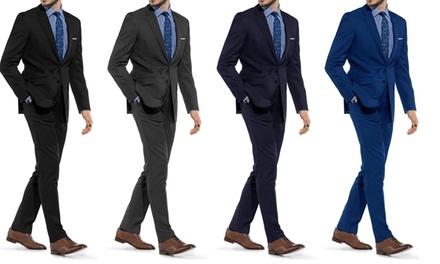 Braveman Men's Slim Fit Suits (2 Piece)