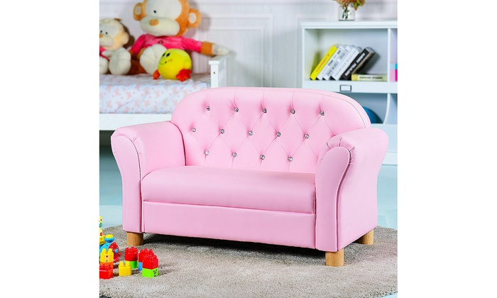 Kids Sofa Princess Armrest Chair Lounge Couch Loveseat Children Toddler Gift