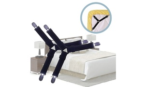 4pcs Triangle Bed Sheet Holder Fastener Grippers Clips Suspender Strap