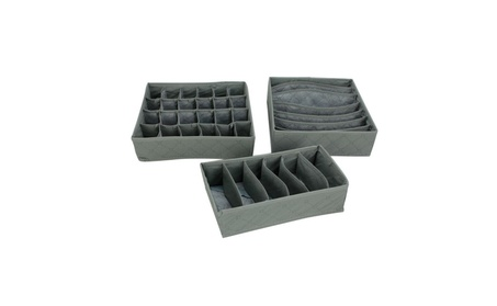 3Pcs Underwear Bra Socks Ties Divider Closet Organizer Storage Box Set 9ffbcf27-930c-4f86-a626-00d0e778d864