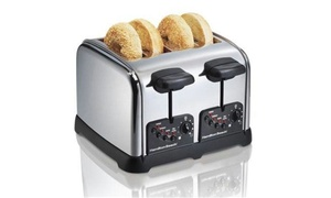 Hamilton Beach 24790 HB 4- Slice Chrome Toaster