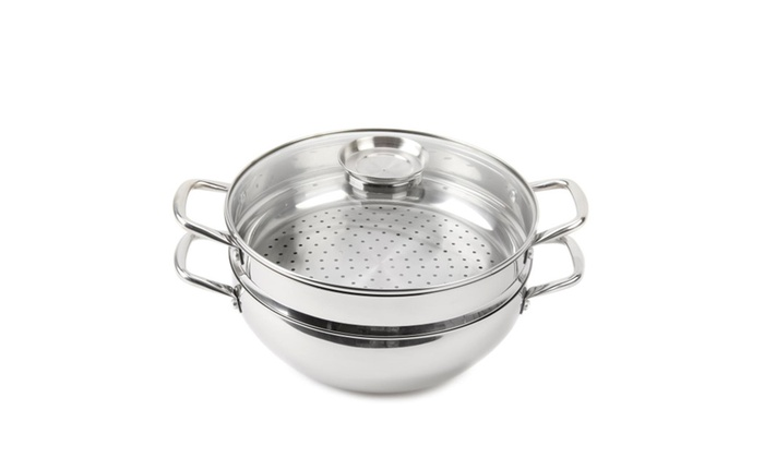... Wolfgang Puck 12  Chefu0027s Pot w/ Steamer Insert u0026 Basting ...  sc 1 st  Groupon : wolfgang puck dinnerware - pezcame.com