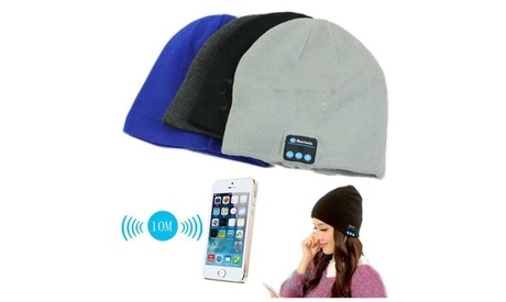 Wireless Bluetooth Beanie Hat with Built-in Headphones