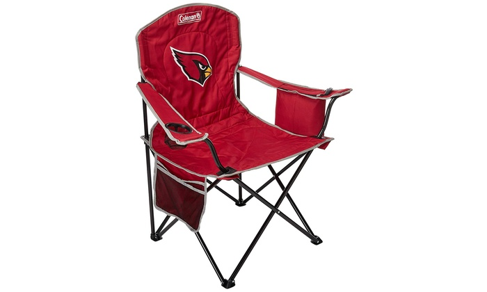 Superb Coleman Nfl Cooler Quad Folding Tailgating Camping Chair With Built In Cooler Lamtechconsult Wood Chair Design Ideas Lamtechconsultcom