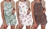 Leo Rosi Women's Trendy Printed Tank and Shorts Lounge Set (S-2XL)