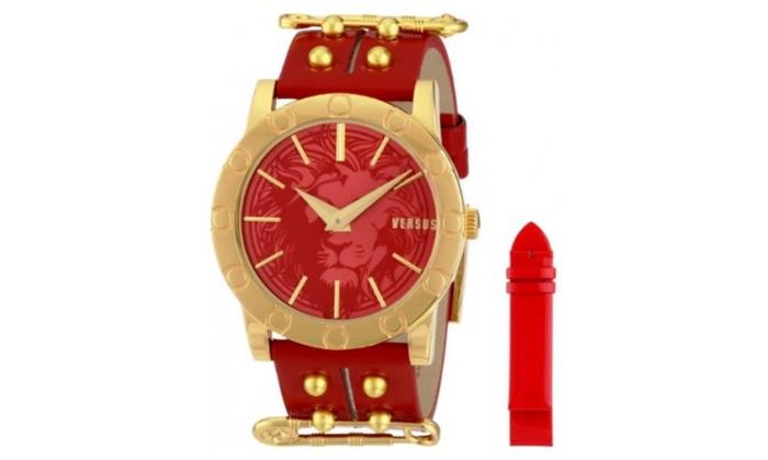 ef7fe966 Versus by Versace Women Miami Analog Display Quartz Red Watch